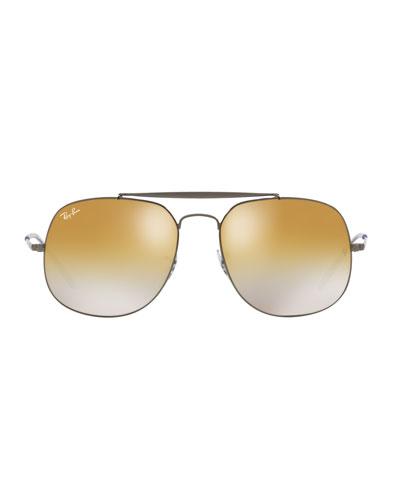 The General Metal Mirror Aviator Sunglasses