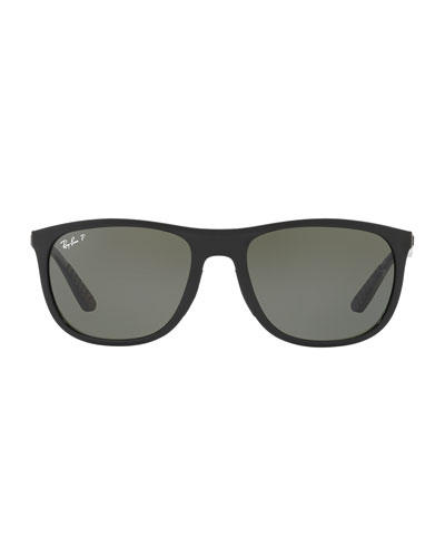 Polarized Square Propionate Sunglasses