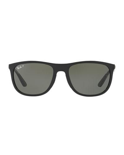 Polarized Square Propionate Sunglasses