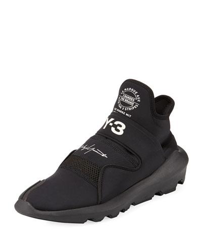 Suberou Fast-Strap High-Top Sneaker