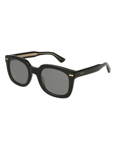 Acetate Rectangular Sunglasses