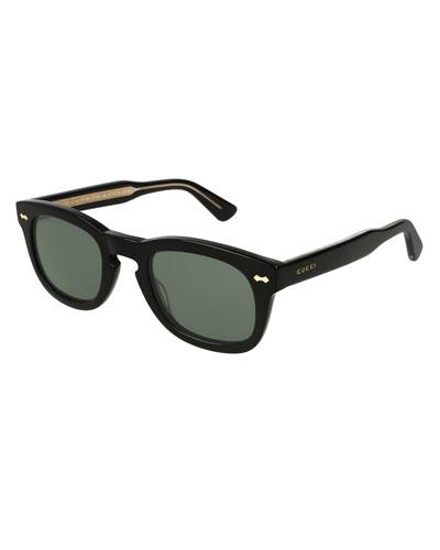 Square Keyhole Acetate Sunglasses
