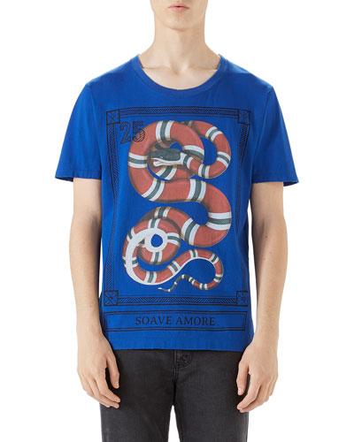 Loved Snake-Print T-Shirt