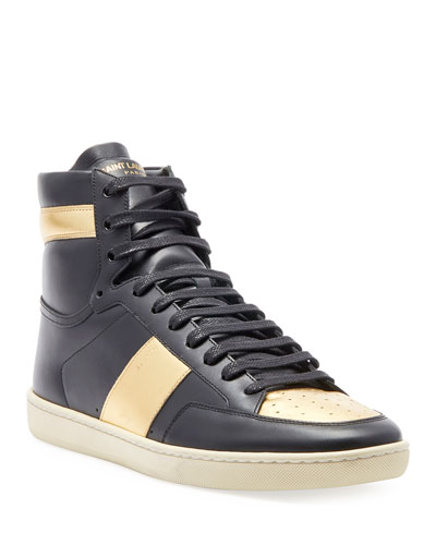Men's Metallic High-Top Sneaker