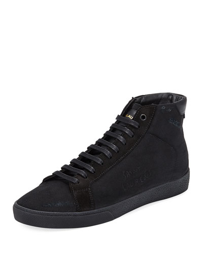 SL06 Men's Suede Mid-Top Sneaker