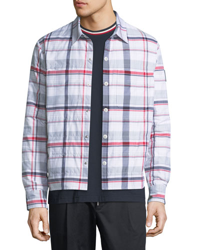 Giubbotto Check Snap-Front Jacket