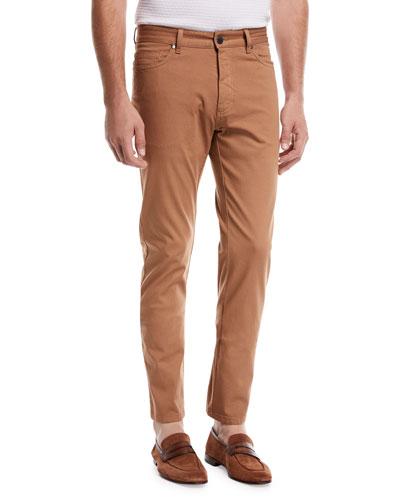 Garment-Dyed 5-Pocket Pants