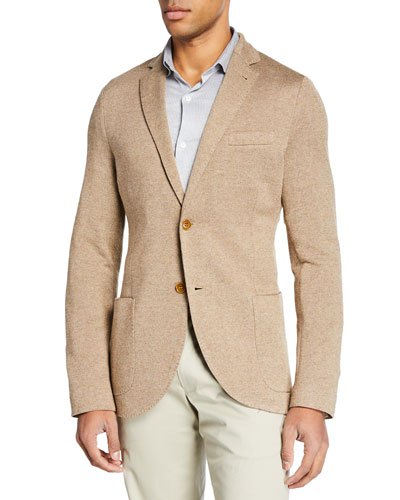 Cashmere-Blend Piqué-Knit Jacket