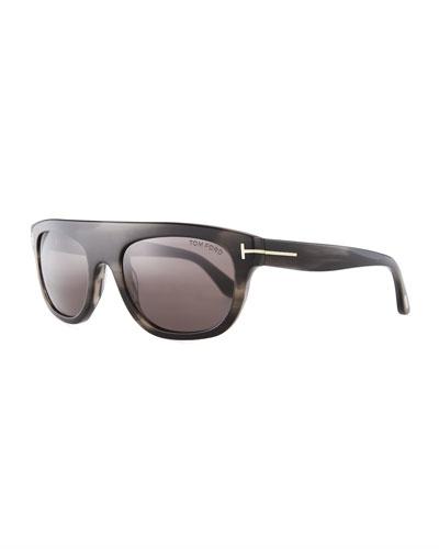 Frederico Thick Square Acetate Sunglasses