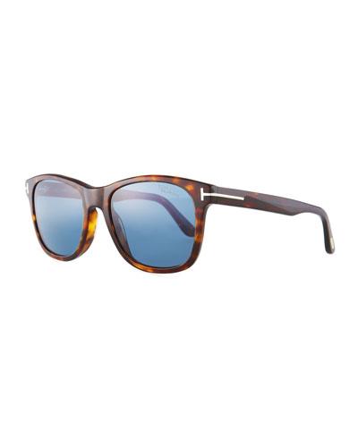 Eric Rectangular Havana Sunglasses
