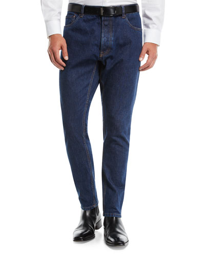 Men's New-Fit Tapered-Leg Denim Pants