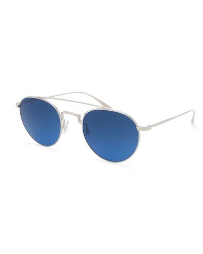 Barton Perreira Vashon Round Aviator Sunglasses