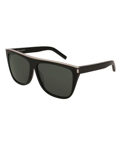 Saint Laurent Flat Top Acetate Sunglasses