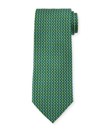 Flag-Pattern Silk Tie