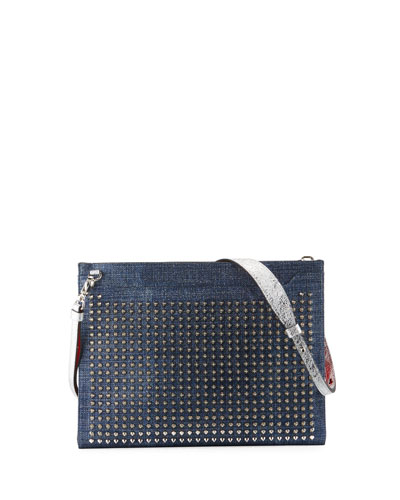 Skypouch Lamé Studded Men's Shoulder Bag