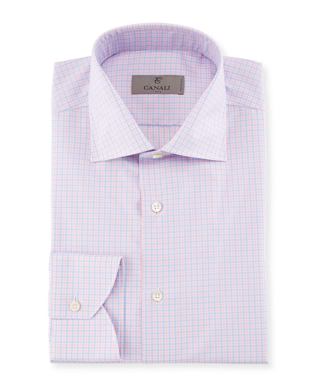 Check Dress Shirt, Pink/Blue