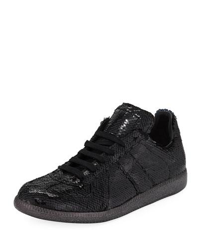 Men's Sequined Replica Low-Top Sneakers