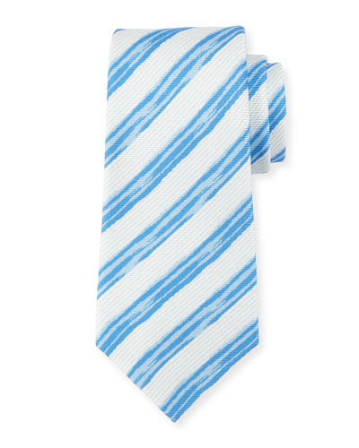 Painted Striped Silk Tie