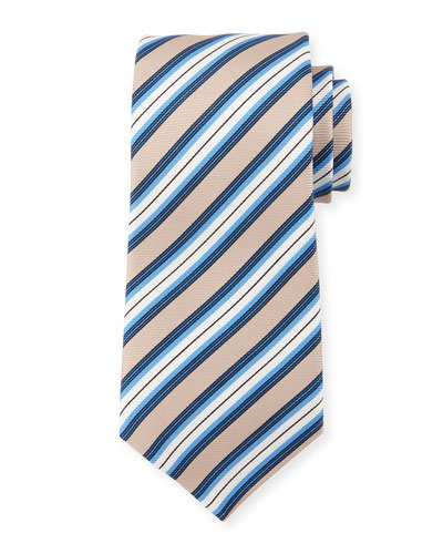 Multi-Stripe Silk Tie