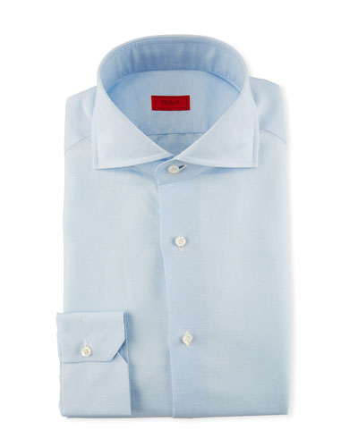Solid Cotton Dress Shirt