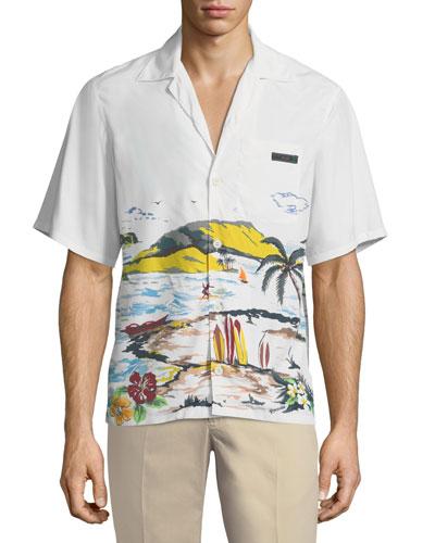 Paradise Graphic Bowling Shirt