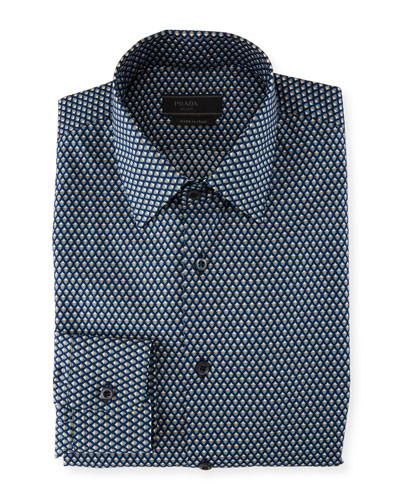 Mini Diamond Poplin Dress Shirt
