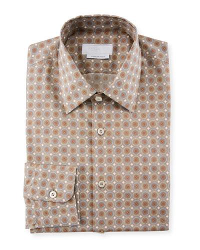 Mini Circle Poplin Dress Shirt