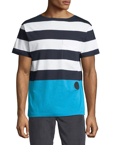 Colorblocked Large-Stripe T-Shirt