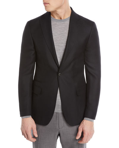 Textured Wool-Silk Blazer