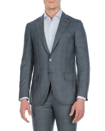 Textured Wool-Stretch Two-Piece Suit