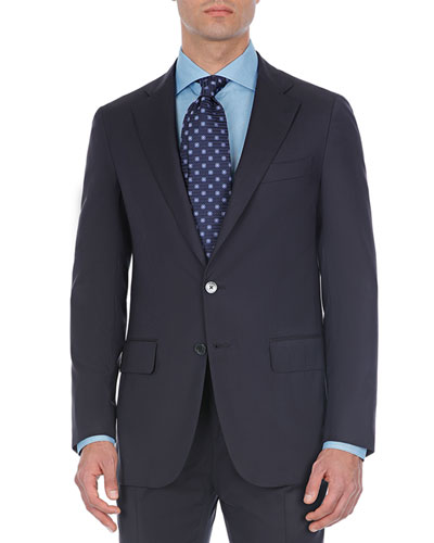 Comfort Solid Wool Two-Piece Suit