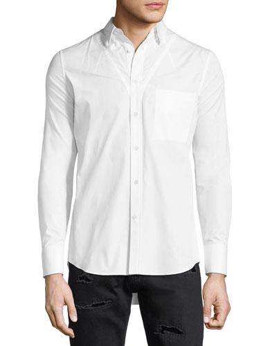 Darted Cotton Sport Shirt