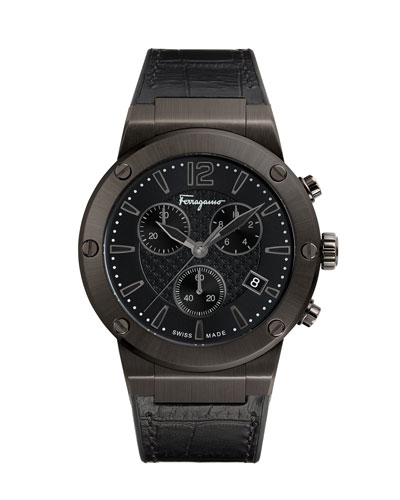 Men's 44mm F-80 Leather Watch