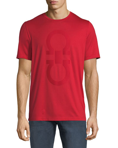Men's Cotton T-Shirt w/ Thermal Gancini Logo