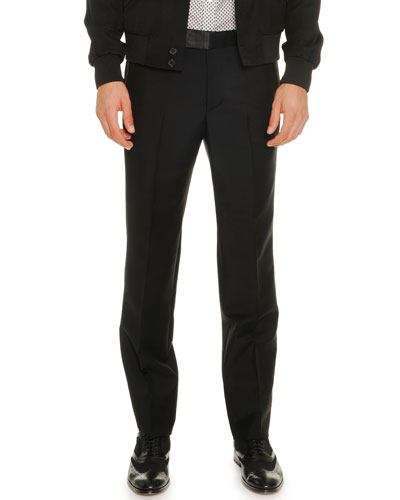 Wool/Mohair Trousers, Black