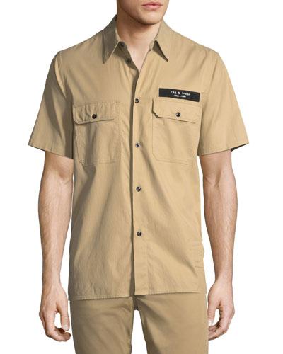Men's Standard Issue Mechanic Casual Button-Down Shirt