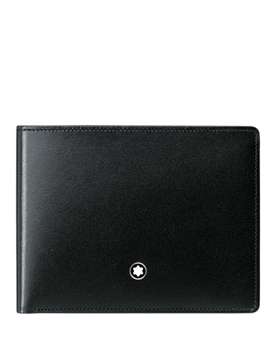 Meisterstück Slim Leather Bifold Wallet, Black