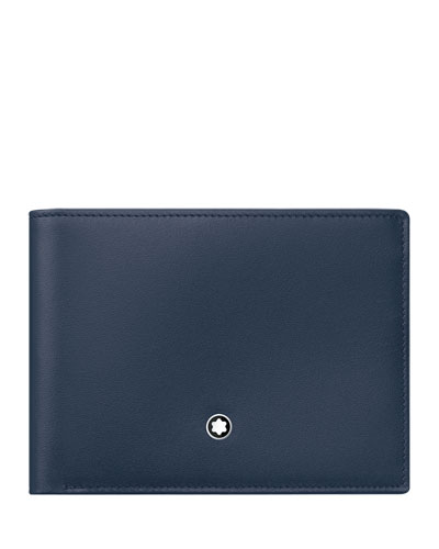Meisterstuck Leather Bifold Wallet, Navy