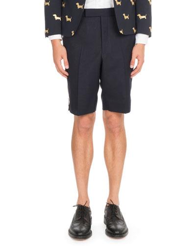 Back-Strap Wool Shorts