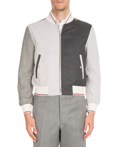 Fun-Mix Zip-Front Twill Jacket