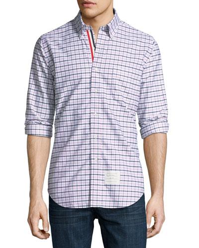 Windowpane Tartan Oxford Shirt