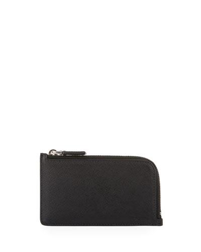 Saffiano Leather Portfolio Card Case