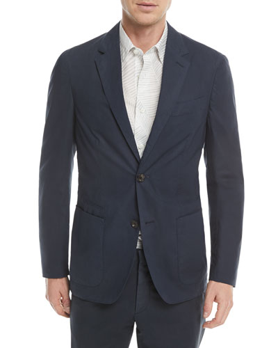 4072f6baa4bc4 Two-Button Stretch-Cotton Jacket Quick Look. Ermenegildo Zegna