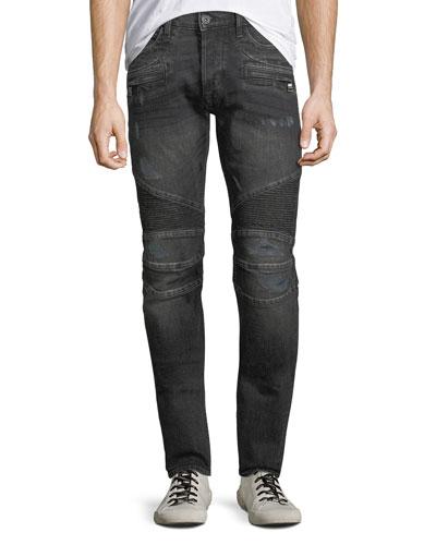 Men's Blinder Distressed Biker Jeans, Hacker