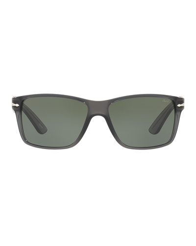 Square Plastic Sunglasses, Gray
