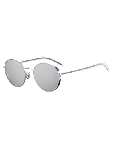 Edgy Round Metal Sunglasses