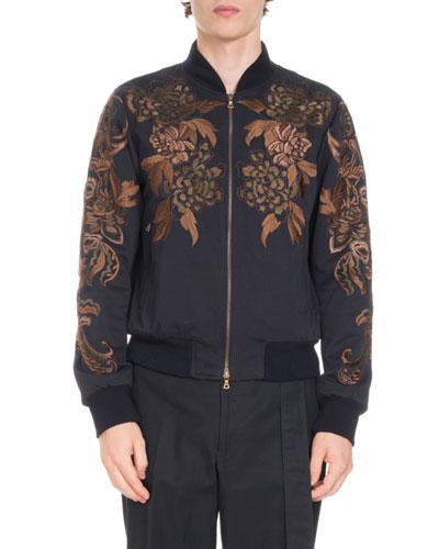 Vinny Reversible Cotton Bomber Jacket