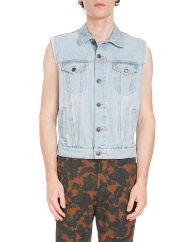 Voste Light-Wash Jean Vest