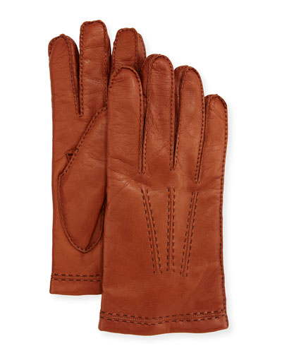 Three-Cord Napa Leather Gloves