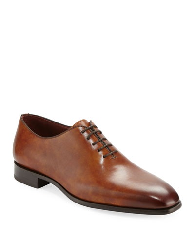 Men's One-Piece Leather Lace-Up Dress Shoe